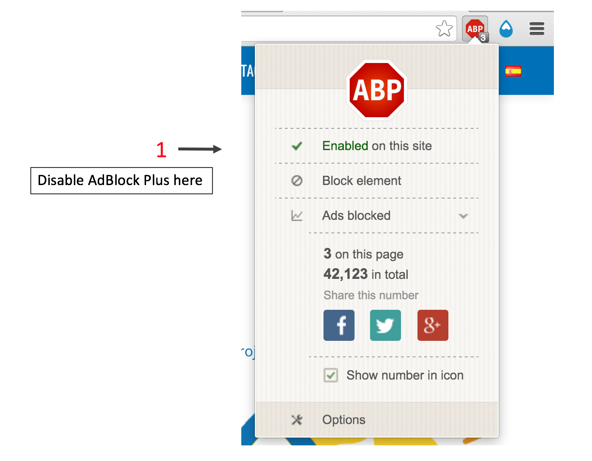 How to disable adblock on chrome windows 10
